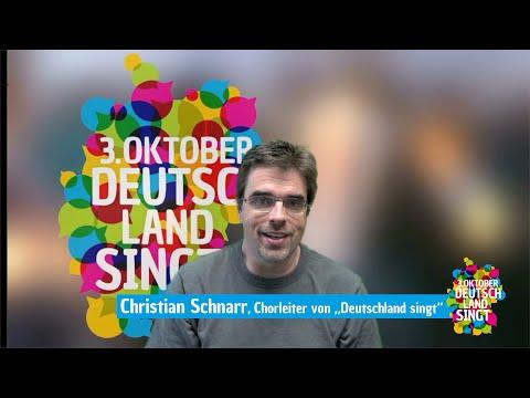 """Christian Schnarr, Chorleiter von """"Deutschland singt"""", spricht über seine Dankbarkeit"""