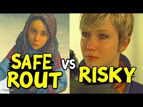 Choose Rout RISKY CHECKPOINT Vs DETOUR SAFER - Alternate Choices - Detroit Become Human