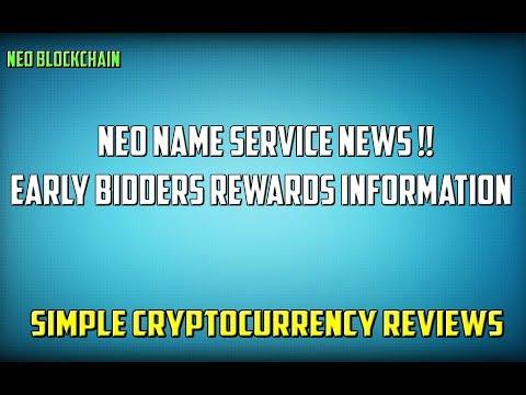 Neo Name Service - Domain Bidding Rewards News !!