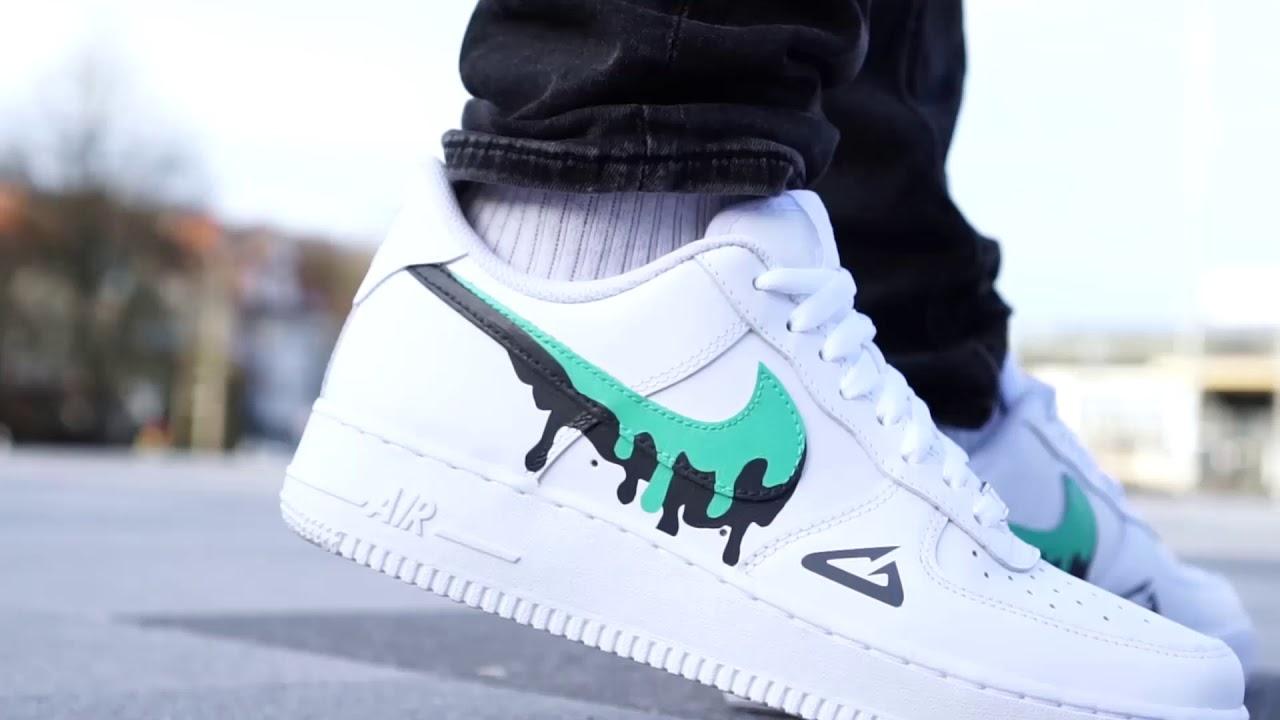 exótico Dempsey Fresco  BornOriginals x Grailify Nike Air Force 1 Custom - YouTube