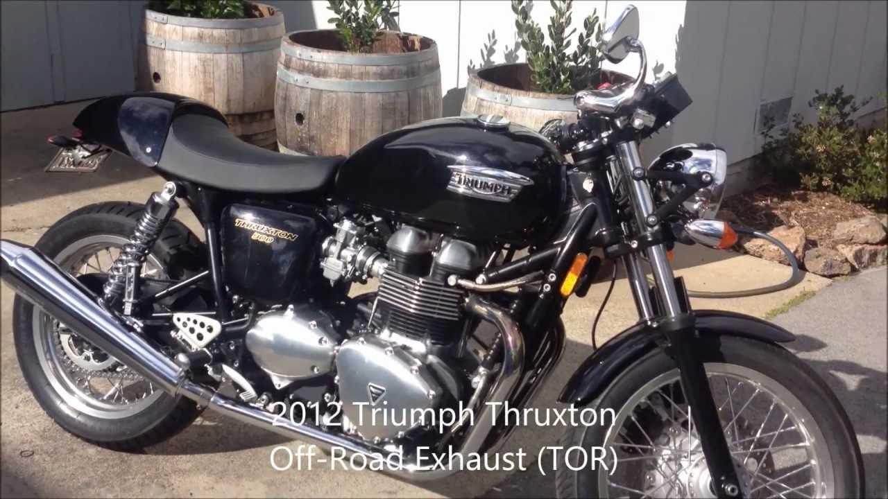 Triumph Off Road Exhaust Tor Vs Original Youtube