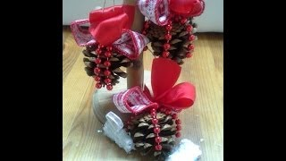 Pine Cones Ornaments(tutorial) and my Christmas Tree:)