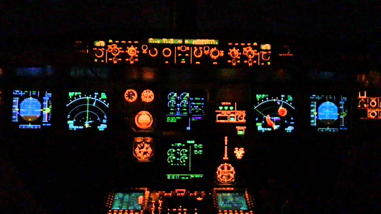 Airbus a320 night takeoff at tenerife south airport - 4k cockpit wallpaper ...