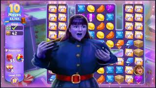 Wonka's World of Candy Level 553 - NO BOOSTERS + FULL STORY ???? | SKILLGAMING ✔️