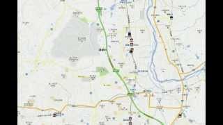 GoogleMap上に、現在(時間指定可能)全国で走っている電車をリアルタイ...
