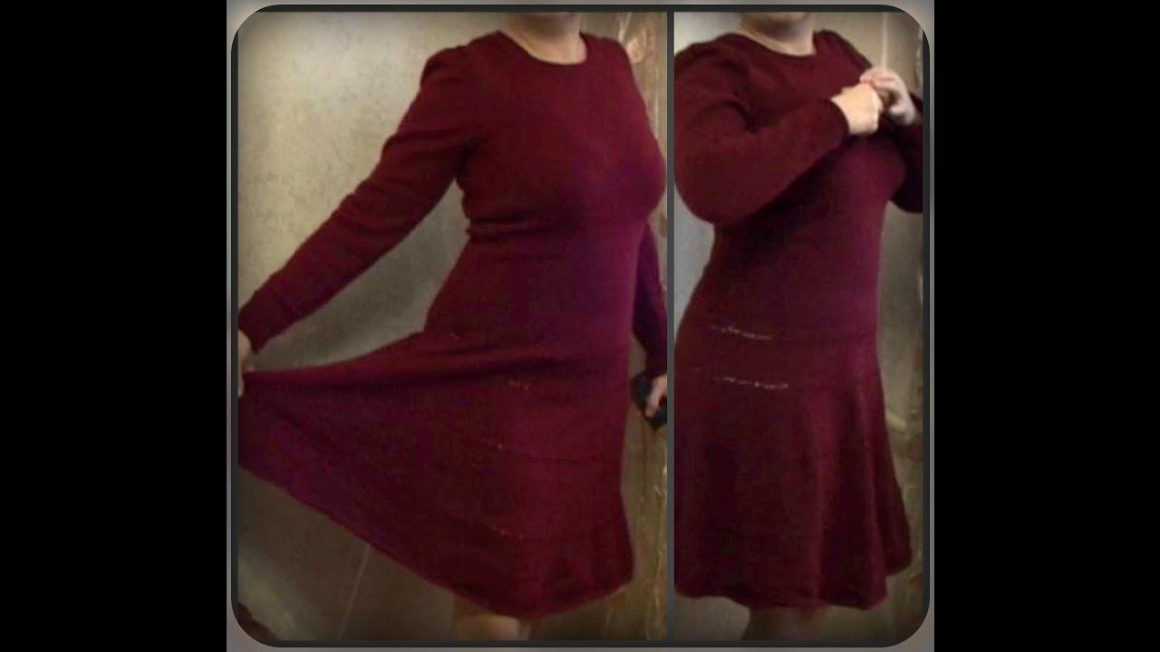Как сшить теплое платье? Стояче-отложной воротник в теплом платье .