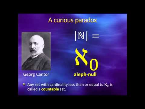 Introduction to Higher Mathematics - Lecture 12: Infinity