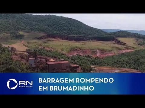 Novo vídeo mostra força da lama após rompimento da barragem em Brumadinho