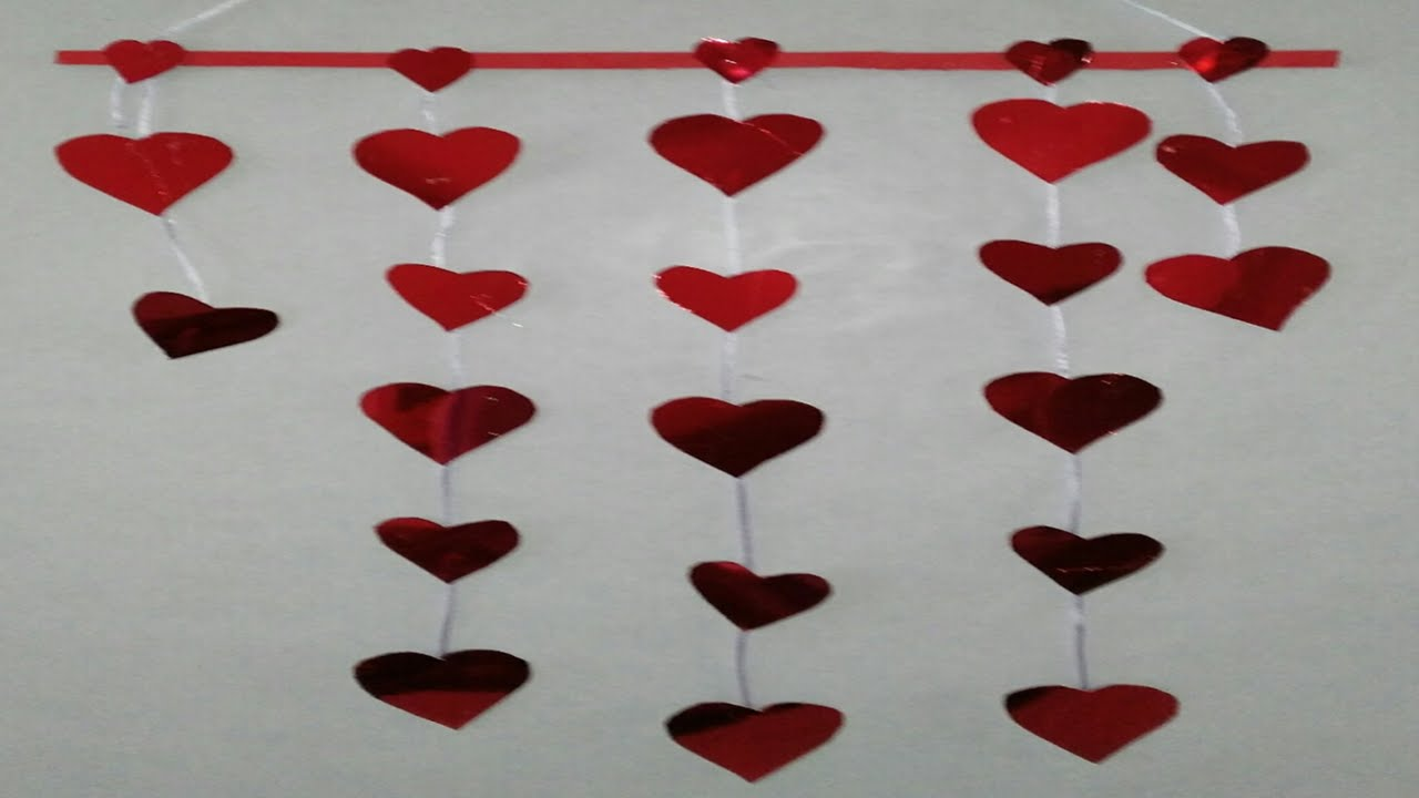 guirnaldas de corazones tutorial diy how to make garlands of hearts
