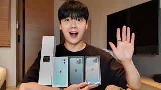 아이폰11/아이폰11Pro/애플워치5 언빡싱!! [뭐야...실물 존예잖아..?!ㅠ]