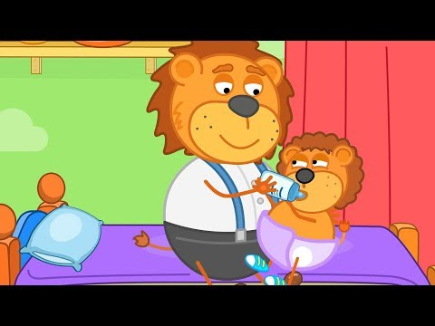 Lion Family Daddy is Basitter Cartoon for Kids