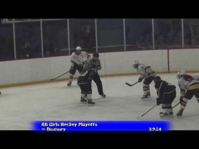 Acton Boxborough Varsity Girls Hockey @ Duxbury 3/9/14