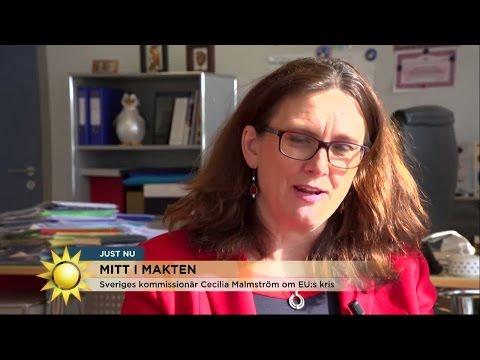 """Cecilia Malmström: """"Det är många stora utmaningar i EU just nu"""" - Nyhetsmorgon (TV4)"""