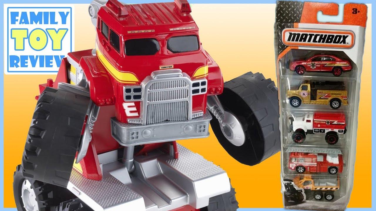 toy trucks - fire trucks for kids