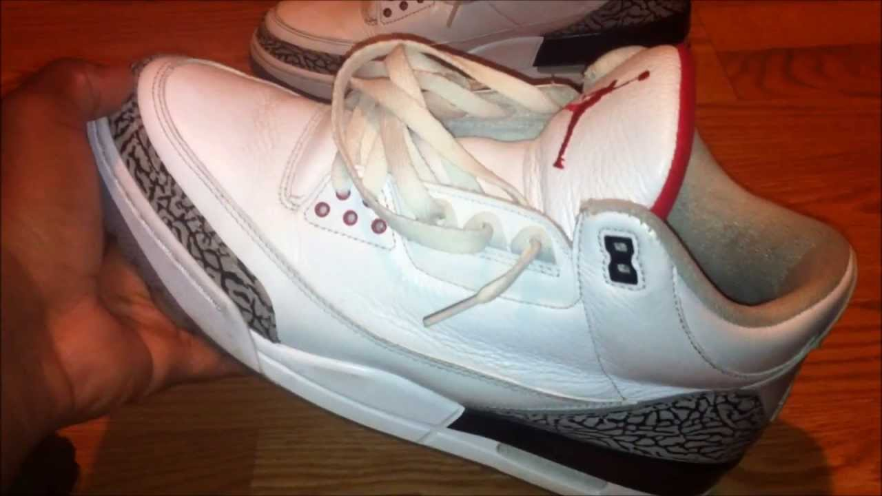 b3a2ef91f11f3a ... sale air jordan 3 white cement restoration youtube aca08 90edc