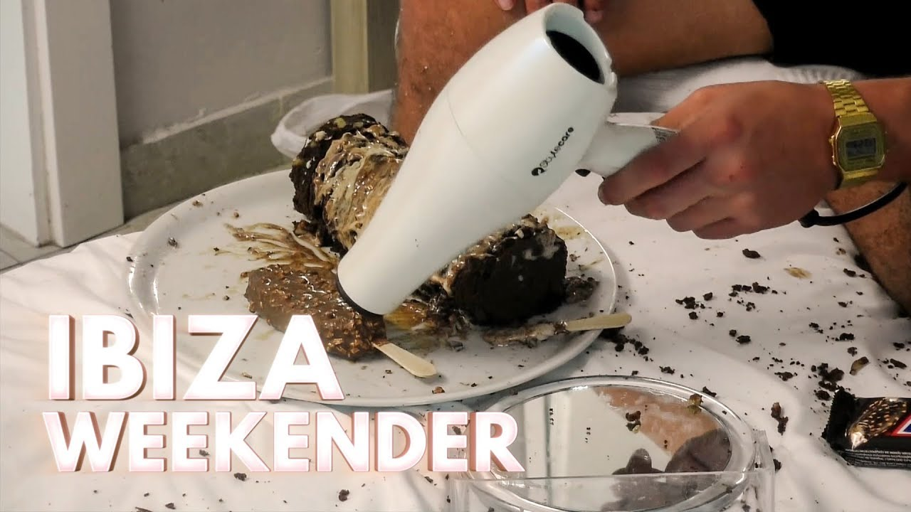 Jordan Melts Ice Cream Using a Hair Dryer | Ibiza Weekender