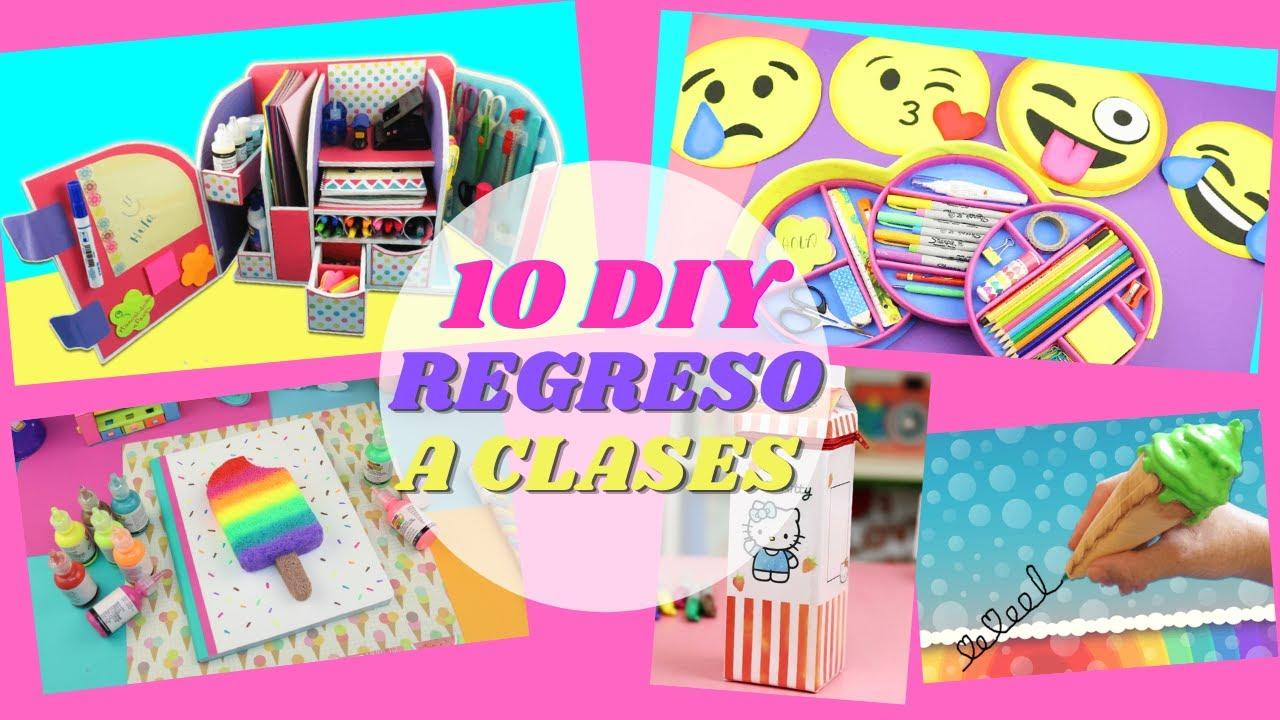 10 DIY Regreso a Clase - Increíbles Útiles Escolares   Manualidades aPasos