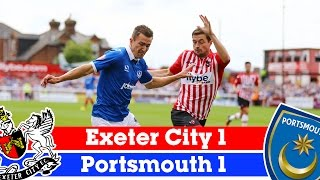 Exeter City 1-1 Portsmouth (9/8/14) - Sky Bet League 2 Highlights 2014/15