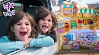 Twins Kate & Lilly DRIVE to the store and BUY NEW TOYS!!