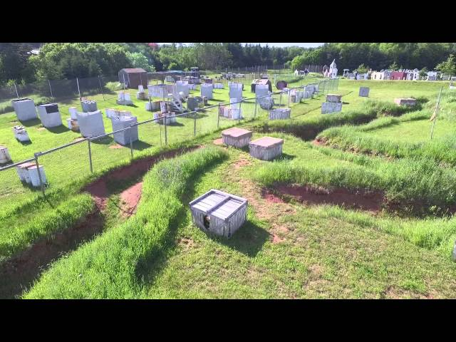 The Trenches Field Drone Flyover - Crossfire PEI Adventure Paintball
