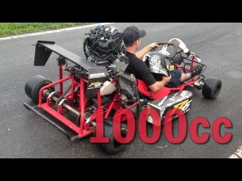 1000cc Kart - LOUD ENGINE SOUND!