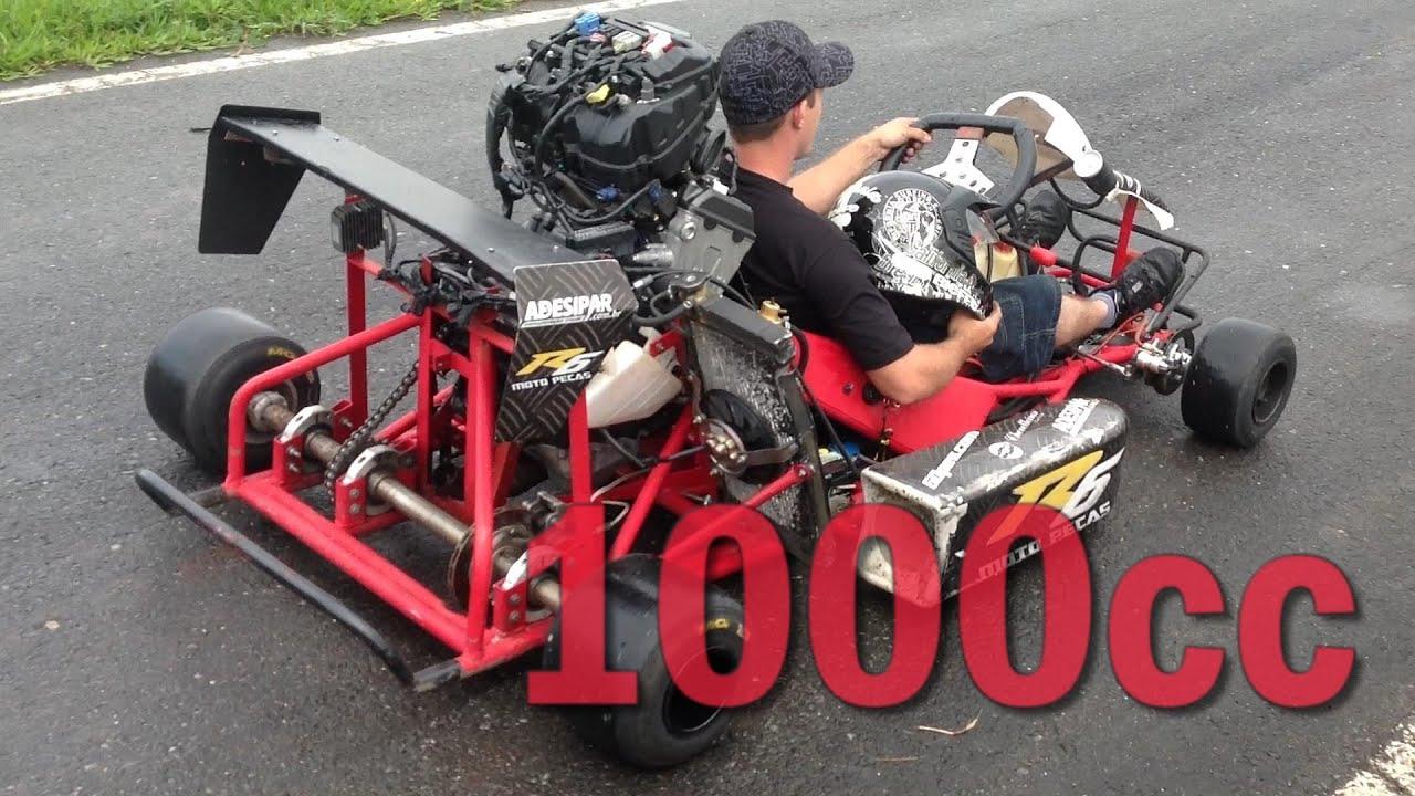 1000cc Kart LOUD ENGINE SOUND! YouTube