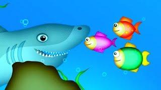 THREE LITTLE FISHES | Nursery Rhymes TV. Cute Baby Toddler Preschool Baby Songs.