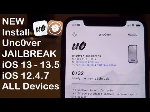 NEW Install Unc0ver JAILBREAK iOS 13.5 / 12.4.8 ALL Devices iPhone iPad iPod Touch - YouTube