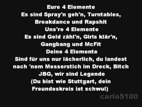 Kollegah & Farid Bang - 4 Elemente (Lyrics+HQ)