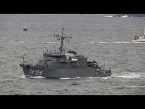 Standard Nato Mine Countermeasures Group 1 (SNMCMG1) leaving A Coruña