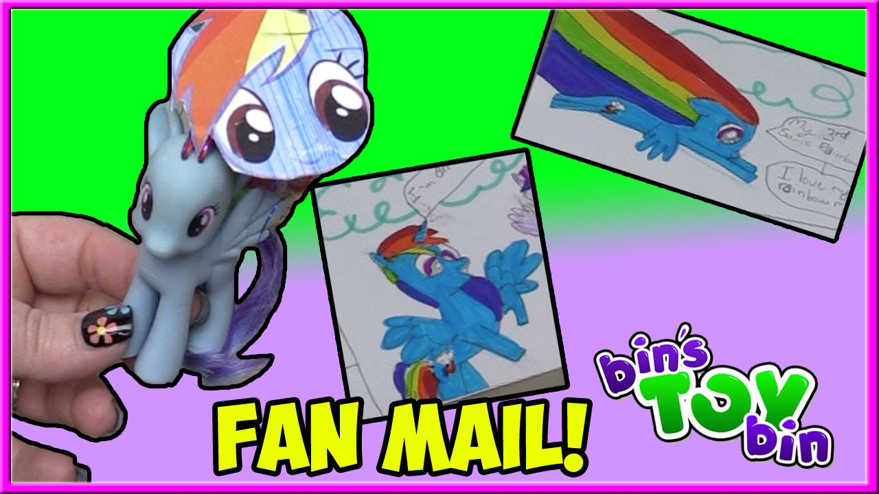 Too Much Rainbow Dash Fan Mail 45 Bin S Toy Bin