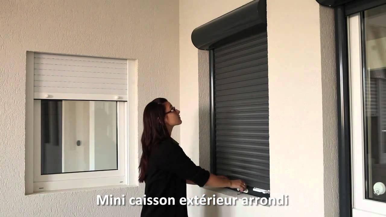 18 Volets Roulants Mca En Aluminium Caisson Exterieur Arrondi Un Tablier Ressort Youtube