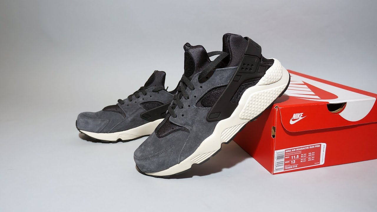 31767a973482 Nike Air Huarache Run Premium grey beige 704830-016 - YouTube