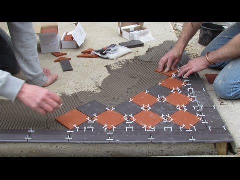 How To Lay A Victorian Tiled Pathway Rated People YouTube - Cost to lay outdoor tiles