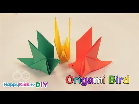 Origami Bird | Paper Crafts | Kid's Crafts And Activities | Happykids DIY