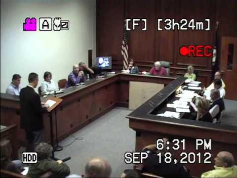 2012-09-18 Mt. Sterling, KY City Council Meeting - (Part 3 of 5)