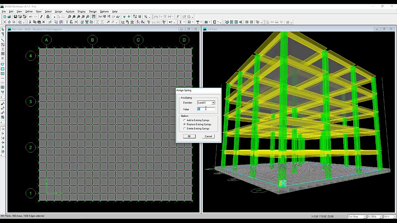 Etabs raft foundation ( radier ) tutorial