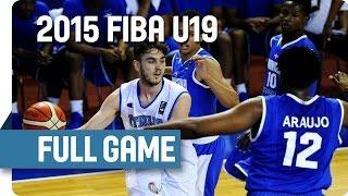Italy v Dominican Republic - Round of 16 - Full Game - 2015 FIBA U19 World Championship
