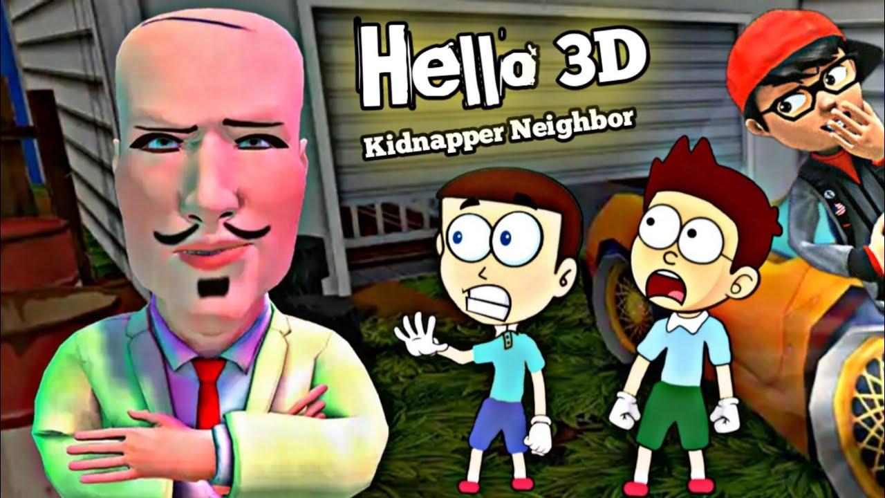 Scary Teacher wala Bablu - Hello Kidnapper Neighbor 3D | Shiva and Kanzo Gameplay