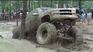 TRUCKS IN MUD