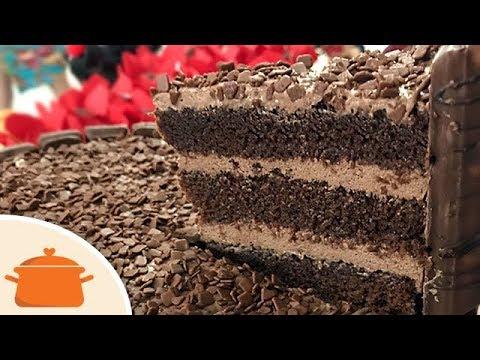 Massa De Chocolate Para Bolo De Aniversário Receita Fácil Youtube