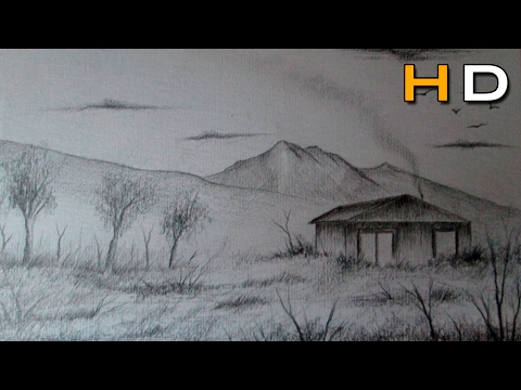 How to Draw a Easy Landscape With Pencil Step by Step – Timelapse