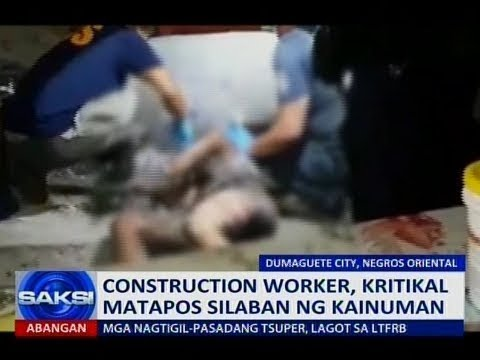 Saksi: Construction worker, kritikal matapos silaban ng kainuman
