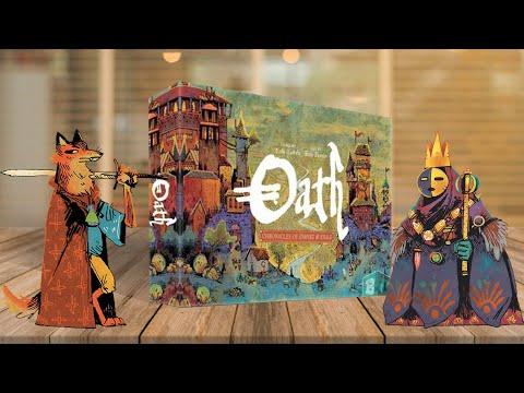 OATH: Chronicles Of Empire \u0026 Exile (КЛЯТВА): Играем в настольную игру от создателей ROOT (КОРНИ)