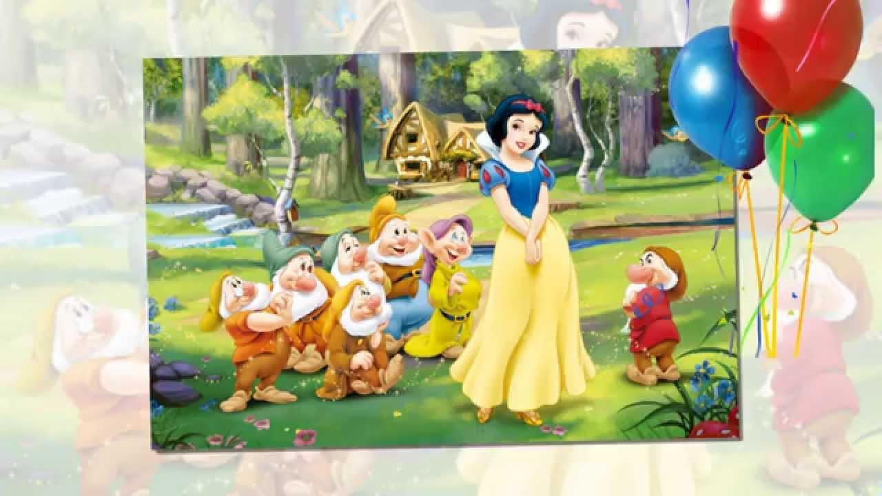 Bài hát Nàng Bạch Tuyết và Bảy Chú Lùn – Mẫu tranh tường đẹp nhất cho phòng bé