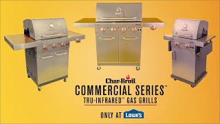 Char Broil Commercial Series Tru Infrared Gas Grills Char Broil Youtube