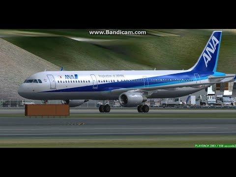 All Nippon Airways A321 Okayama Airport RJOB Landing FS9