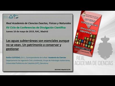 Emilio Custodio Gimena, 16 de mayo de 2019.17ª conferencia delXV CICLO DE CONFERENCIAS DE DIVULGACIÓN CIENTÍFICA.CIENCA PARA TODOS 2019▶ Suscríbete a nuestro canal de YouTubeRAC: https://www.youtube.com/RealAcademiadeCienciasExactasFísicasNaturales?