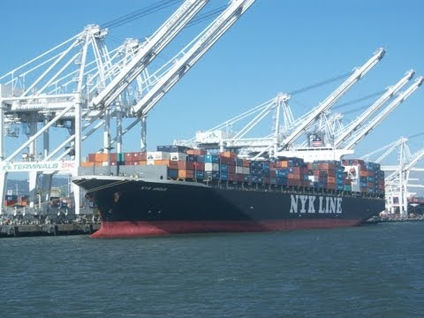 Bay Area Container Ship Spotting - NYK Argus at Port of oakland  June 18, 2013