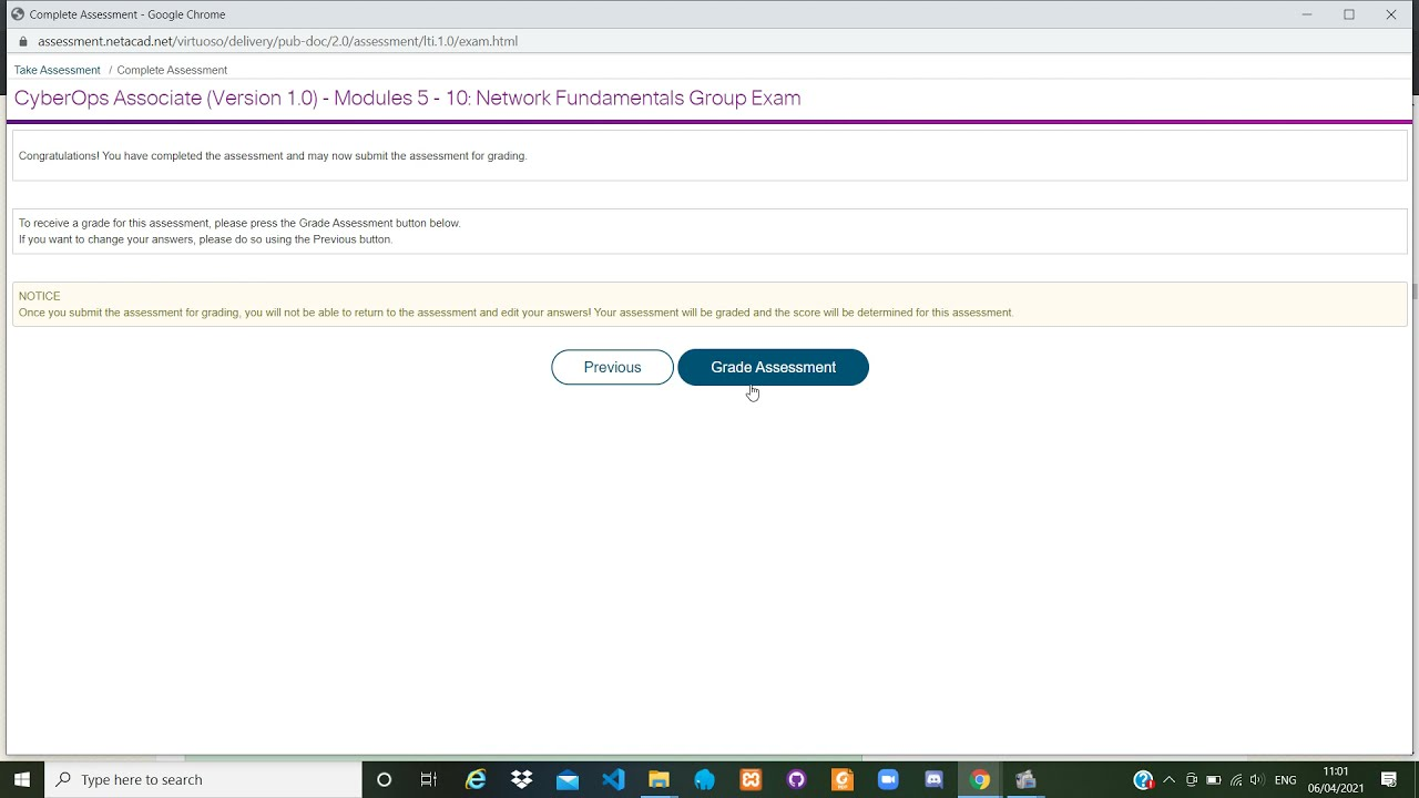 Modules 5 - 10 Network Fundamentals Group Exam Cisco CyberOps Associate